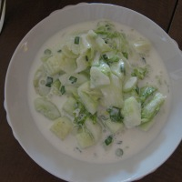 Cold Cucumber and Lettuce Soup