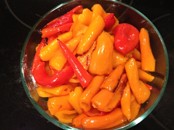 Roasted Sweet Mini Peppers