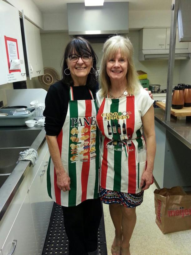 Mary Ann & Nina teach & serve a Tapas Lunch & Cooking Class