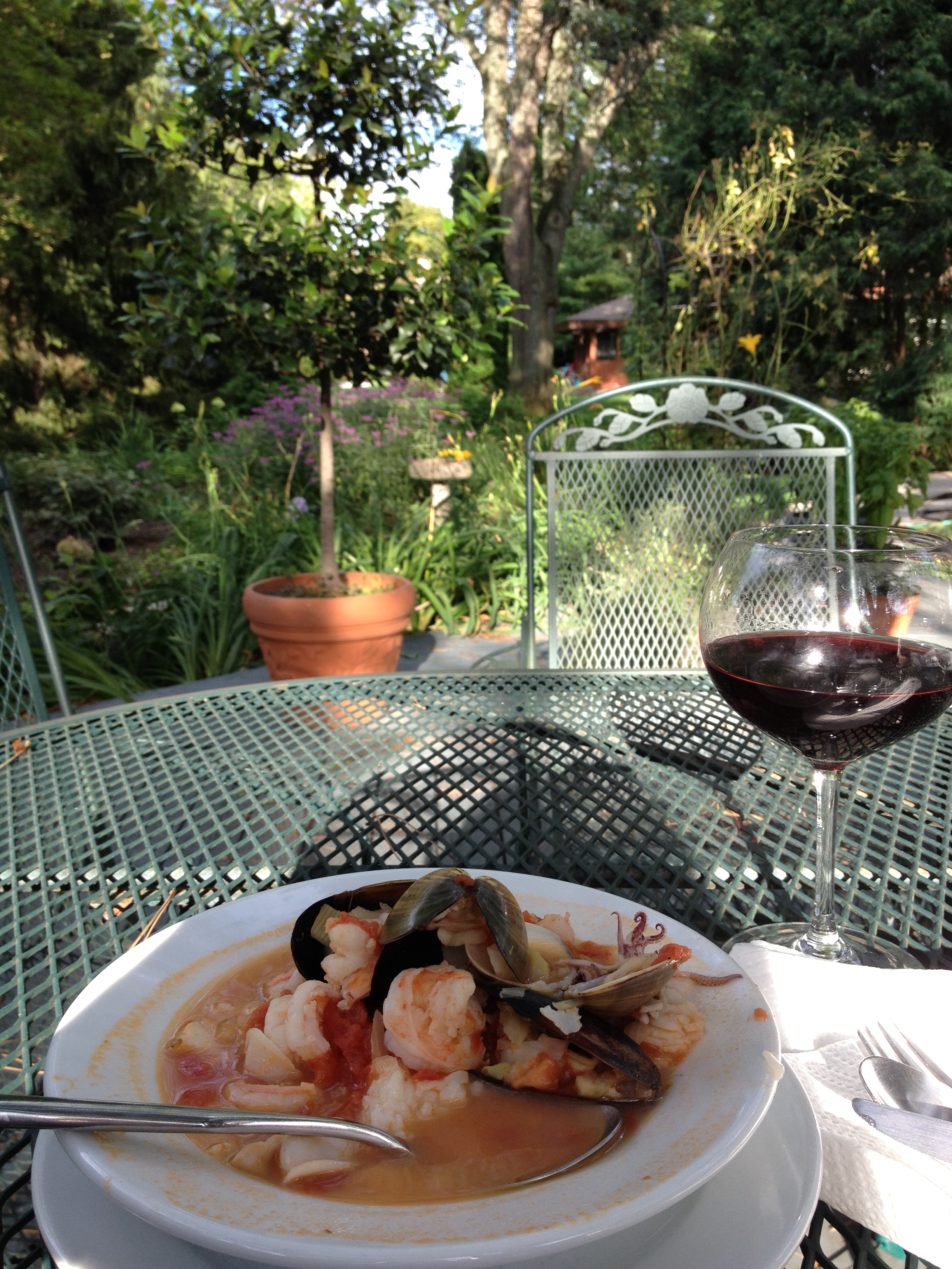 Cioppino in our Garden
