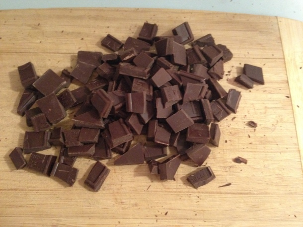 Bittersweet Chocolate Cut Into Pieces Larger Than Chocolate Chips
