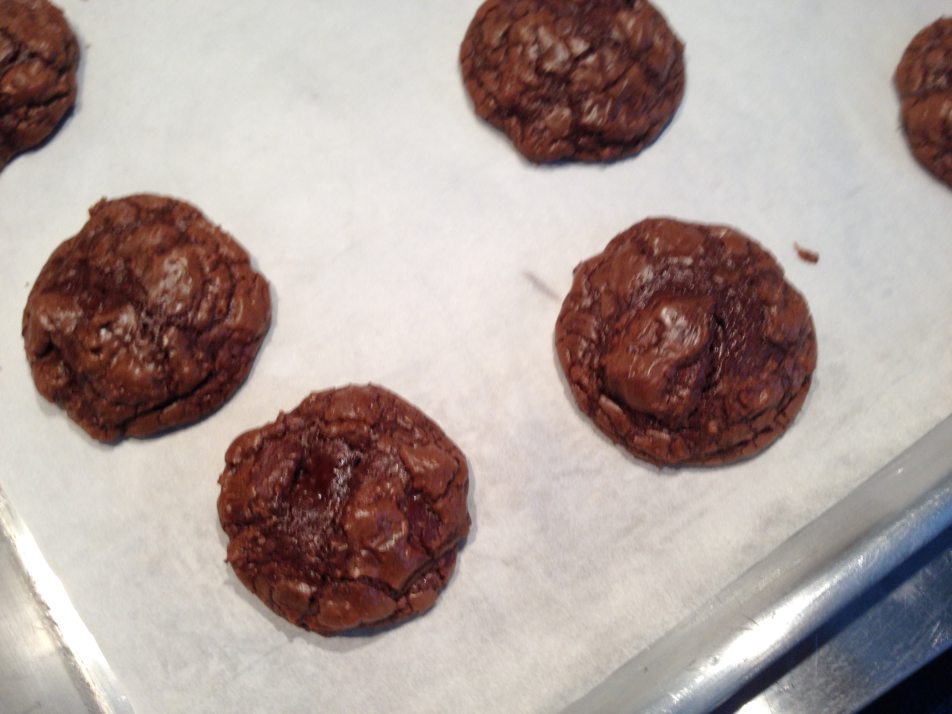 Soft and Crinkly Chocolate Cookies