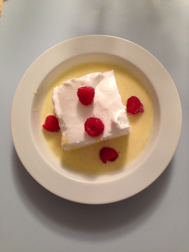 Floating Island, A Classic French Dessert Adaption