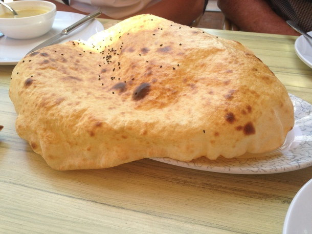 Puffy Naan, straight from the very hot oven