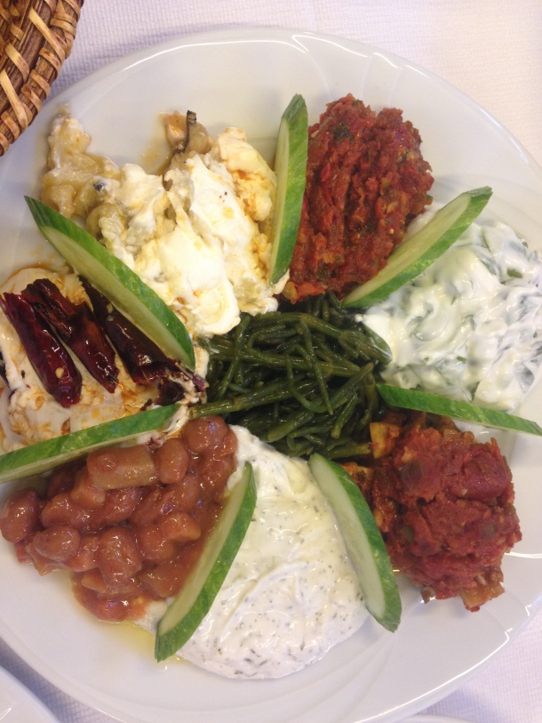 Sliced Cucumbers Separate These Mezes