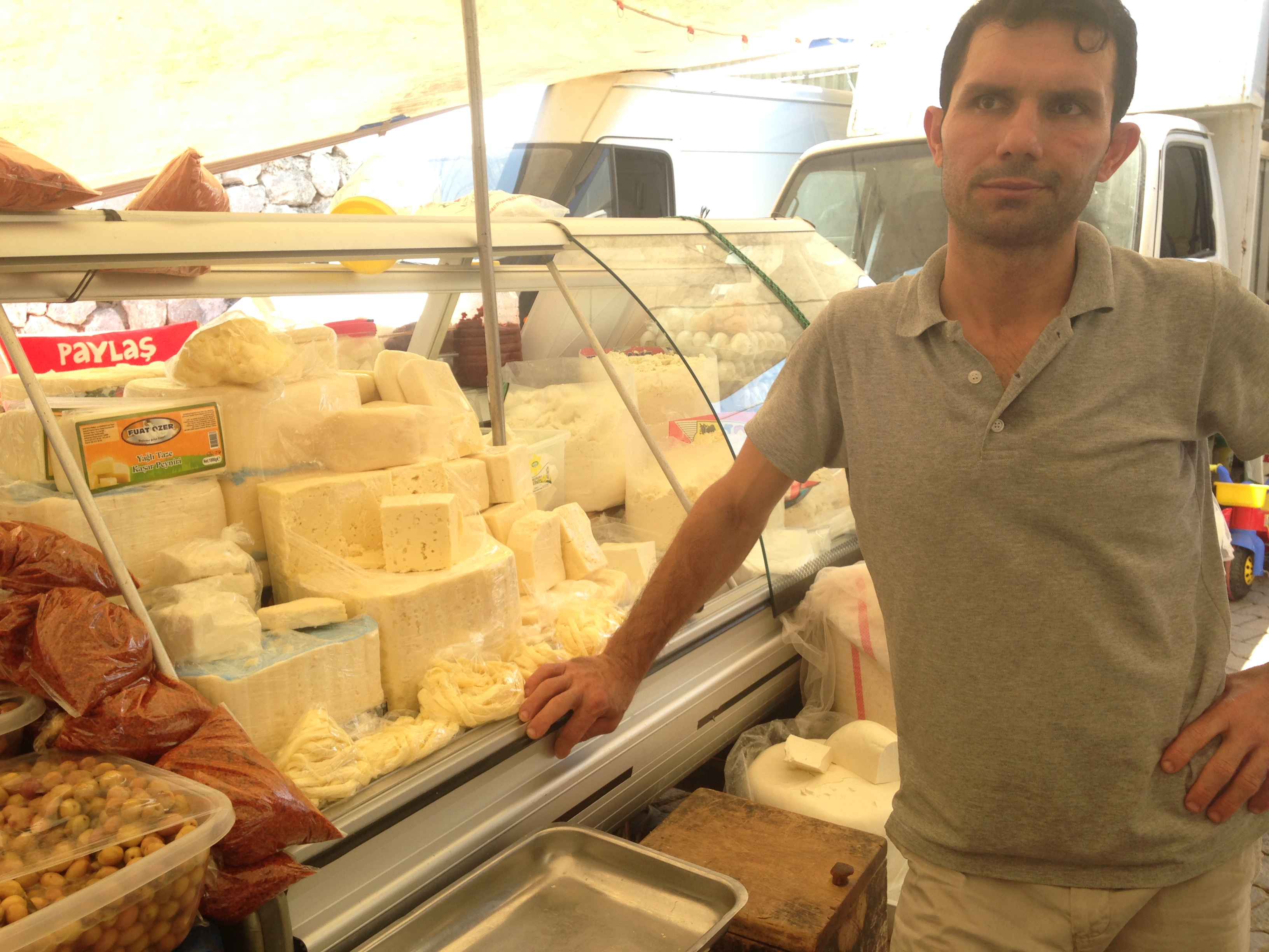 Cheese at the Fethiye Market