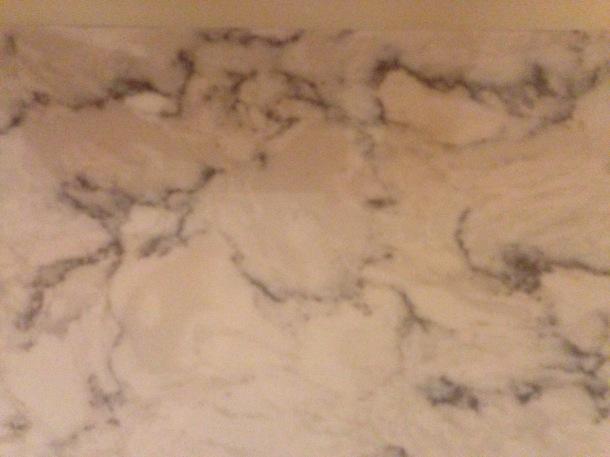 LG Hausys quartz in Rococo for the kitchen.