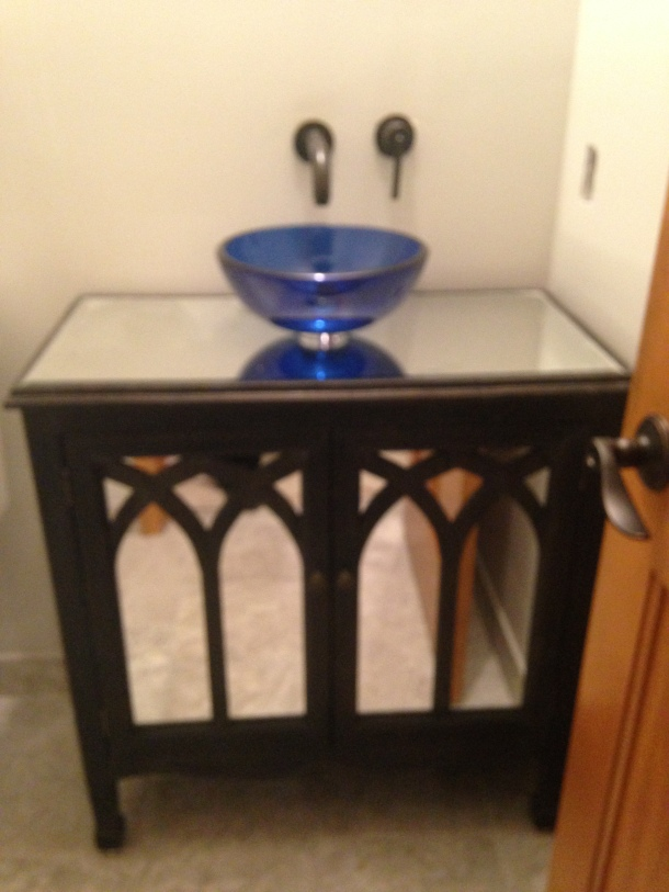 Mirrored chest turned into a vanity
