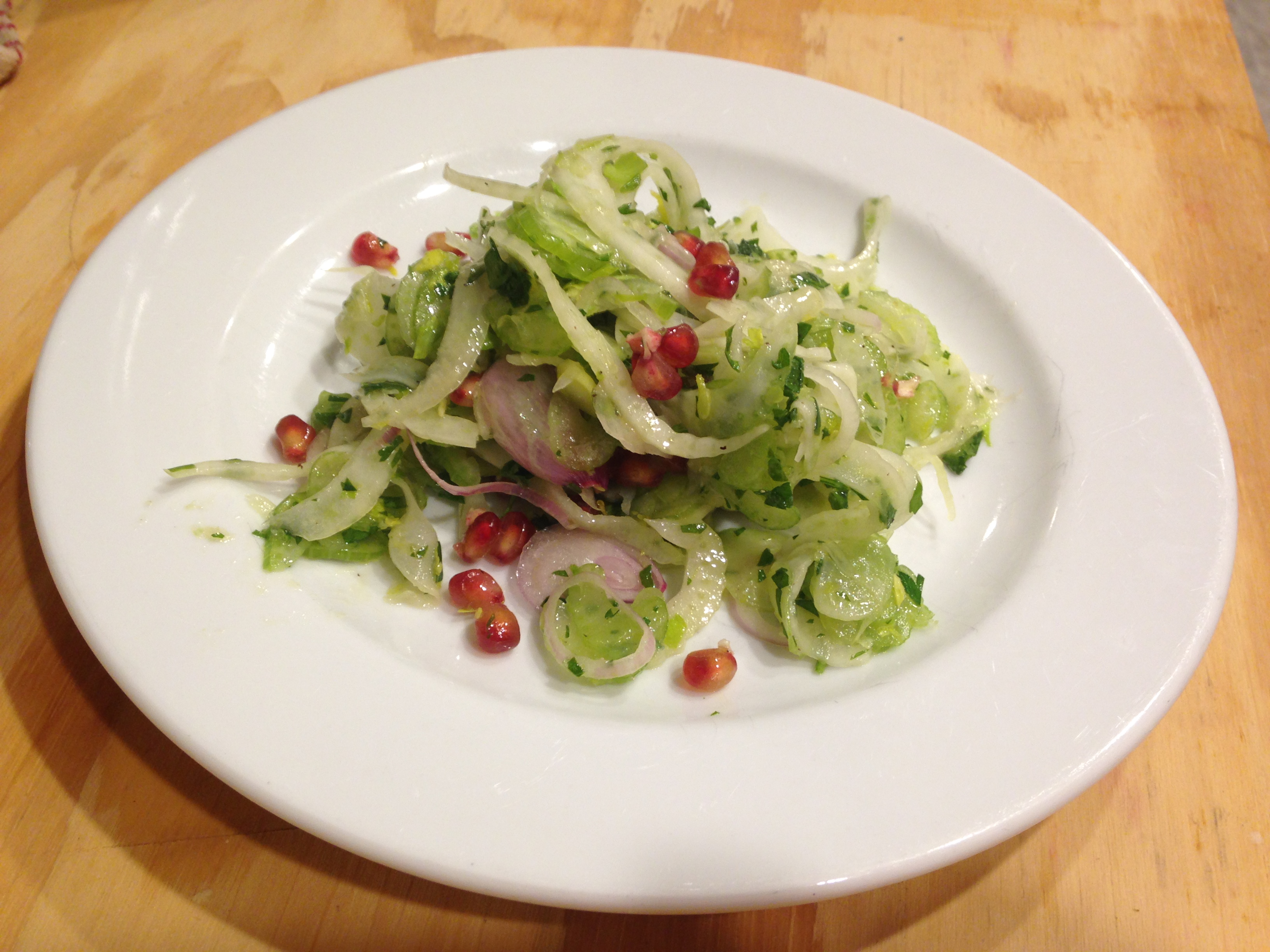 Fennel, Celery & Pomegranate Salad