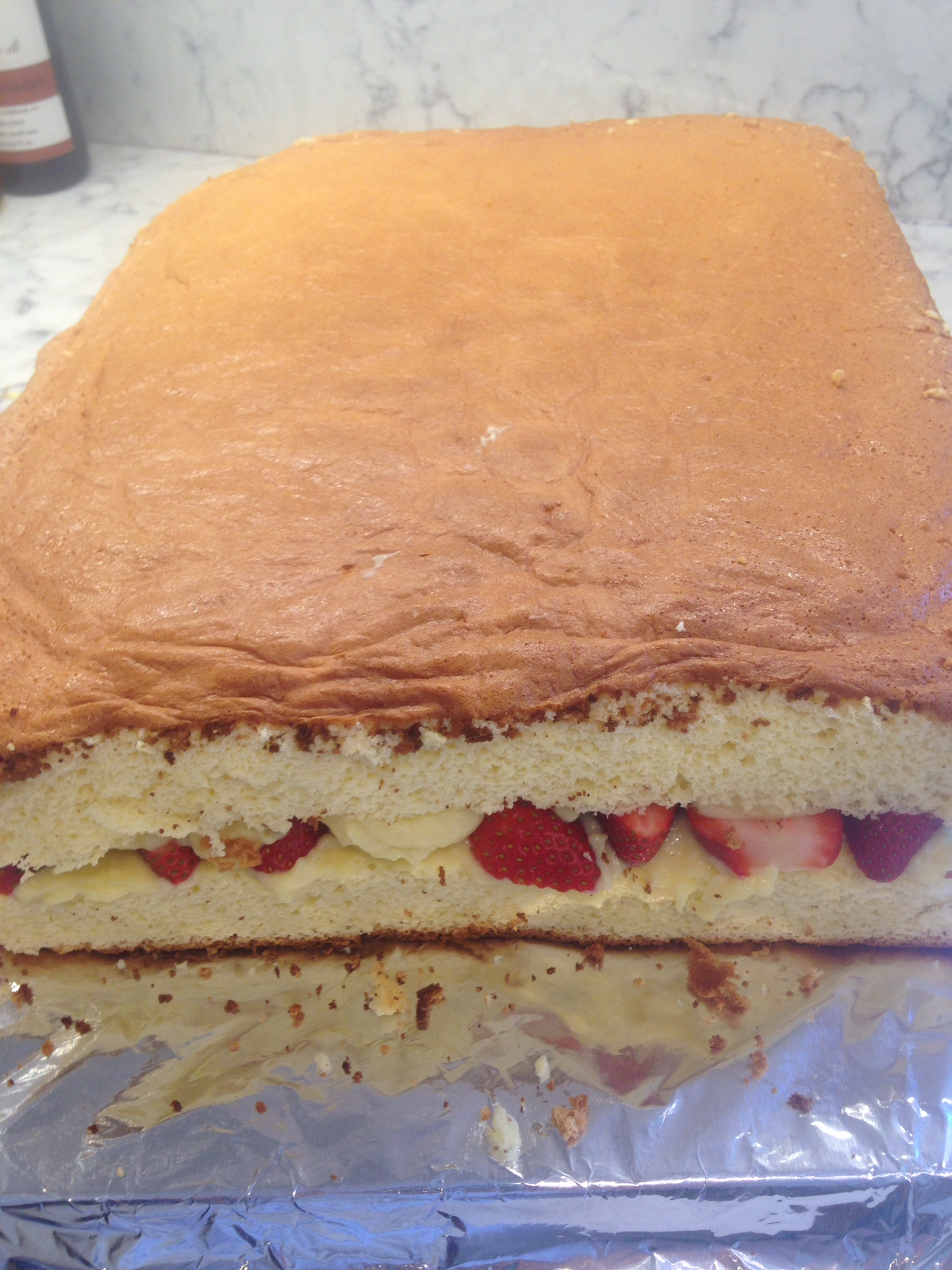 Cake Assembled!