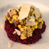 Beet Burgers with Corn Salsa and Red Cabbage Cole Slaw
